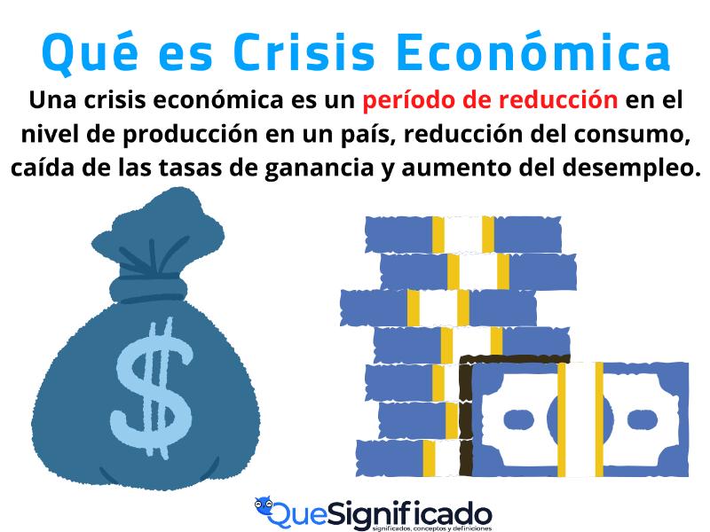 Qué es Crisis Economica Significado Ejemplos
