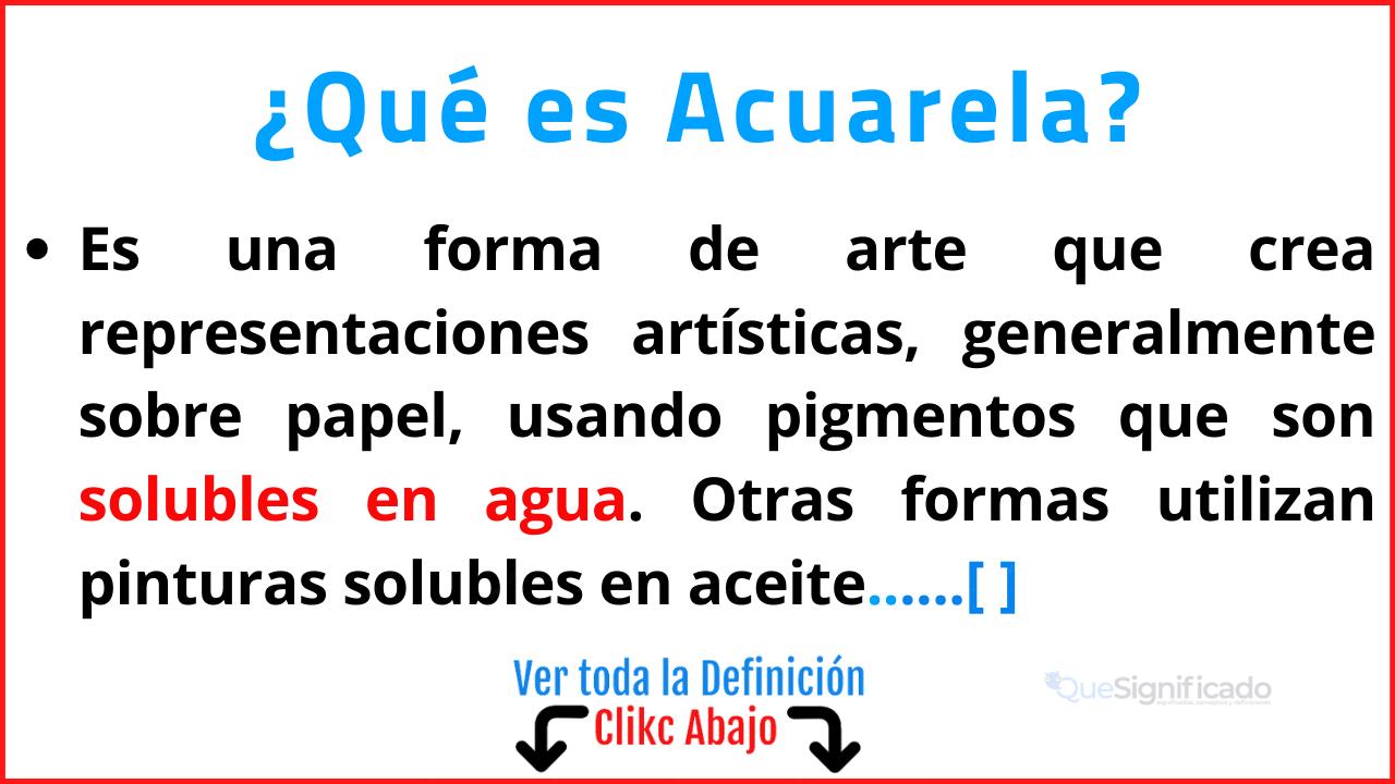 Qué es Acuarela
