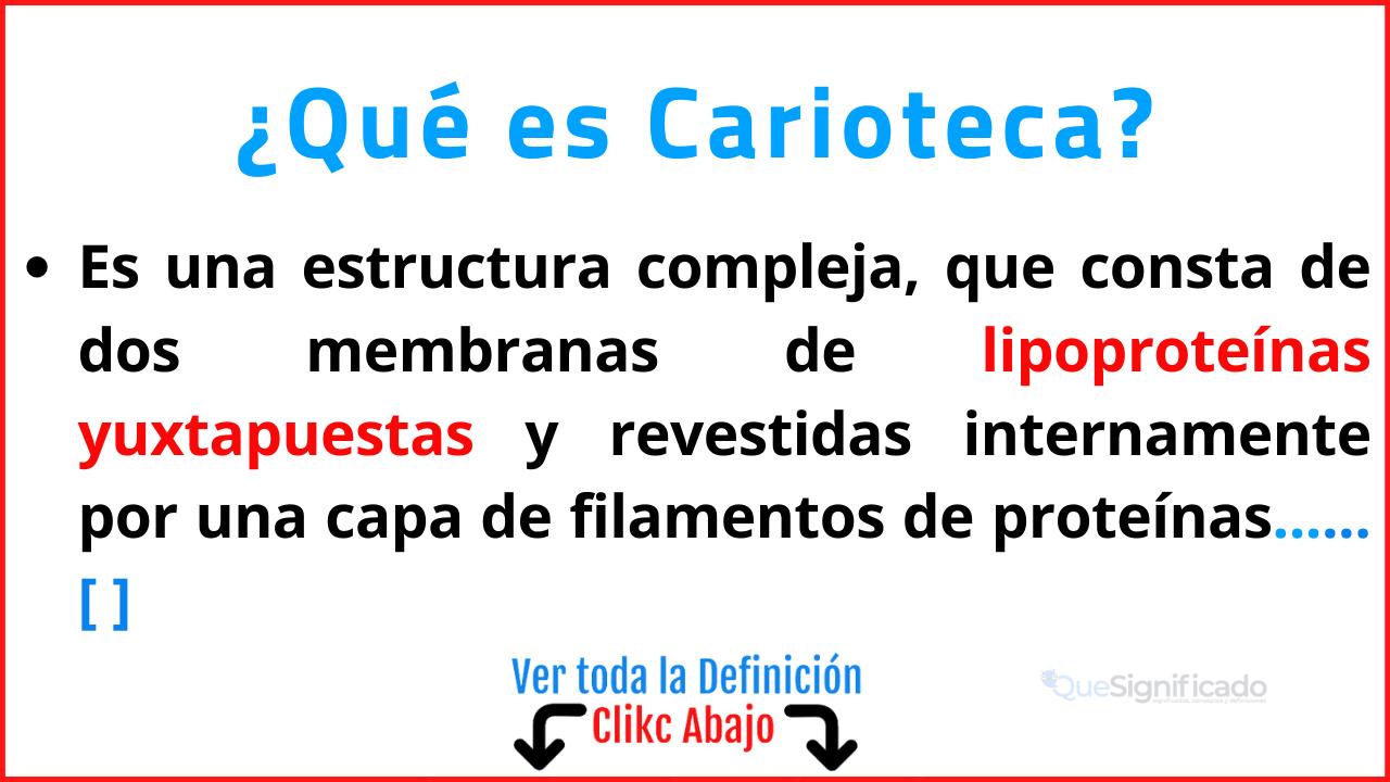 Qué es Carioteca