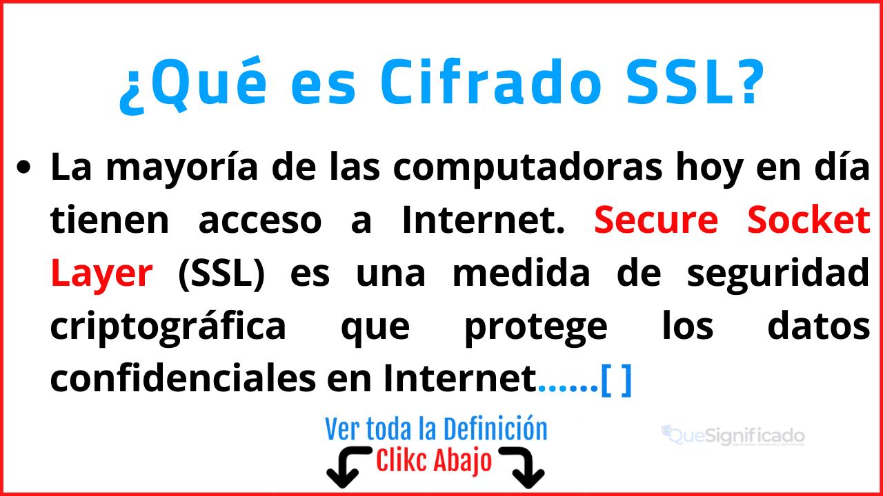 Qué es Cifrado SSL