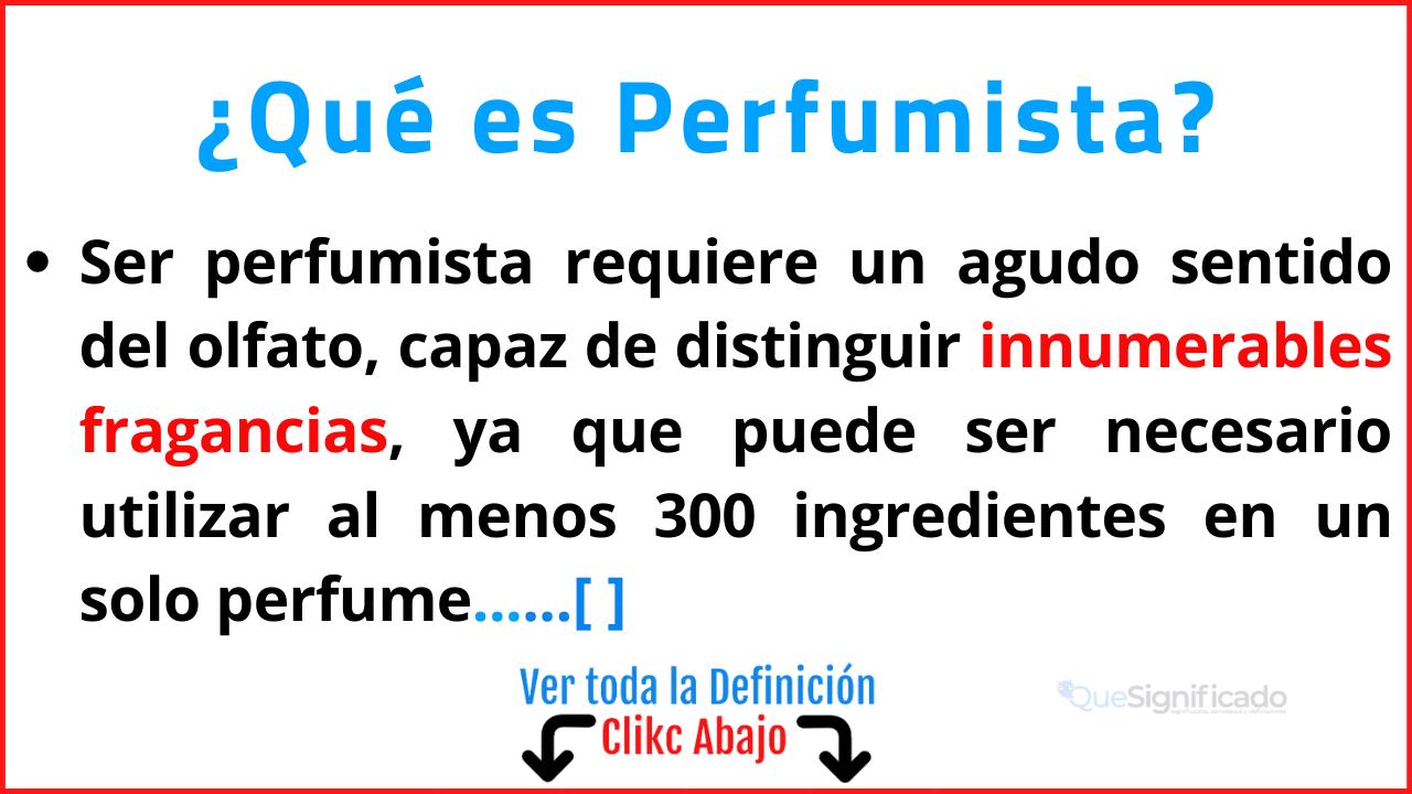 Qué es Perfumista